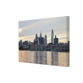 Philadelphia Sunset Skyline Photo Canvas Print