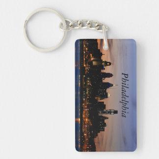 Philadelphia Twilight Rectangle Key Chain