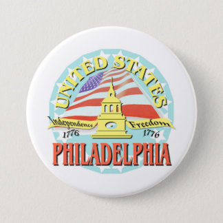Philadelphia USA 1776 7.5 Cm Round Badge