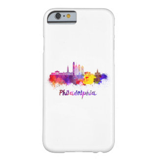 Philadelphia V2 skyline in watercolor Barely There iPhone 6 Case
