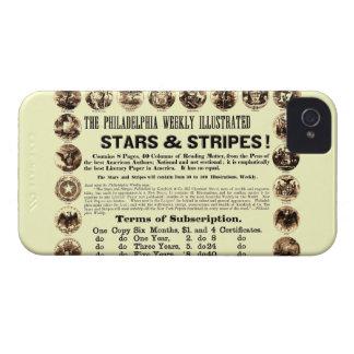 Philadelphia Weekly 1918 Stars & Stripes Newspaper iPhone 4 Case-Mate Case