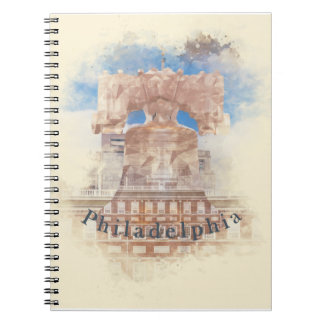 Philadelphia with Liberty Bell & Independence Hall Spiral Notebook