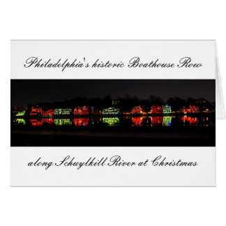 Philadelphia's historic Boathouse Row greetingcard Card