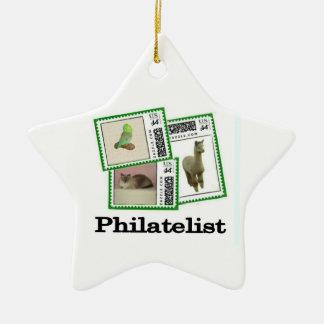 Philatelist 3 ceramic star decoration