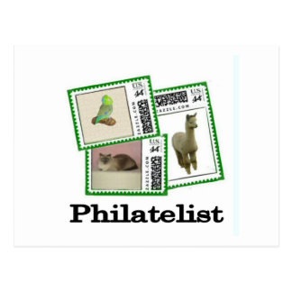 Philatelist 3 postcard