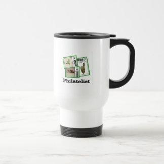 Philatelist 3 stainless steel travel mug
