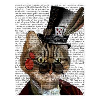 Phileas Feline Steampunk Cat & Top Hat 2 Postcard