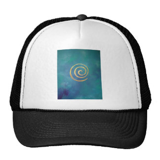 Philip Bowman Infinity Bright Blue Spiral Gold Hat