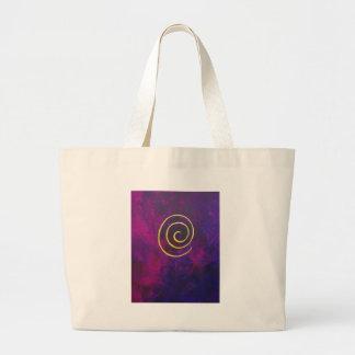 Philip Bowman Infinity Deep Purple Decorative Art Canvas Bags