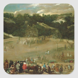 Philip IV Hunting Wild Boar , c.1632-7 Sticker