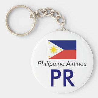 philipinesflag, PR, Philippine Airlines Basic Round Button Key Ring
