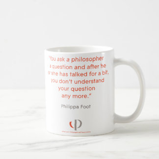 Philippa Foot Quote Mug