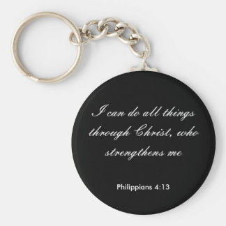 Philippians4:13,I can do all things through Christ Basic Round Button Key Ring