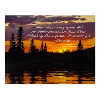 Philippians 1:2-3 Grace and Peace to You, Bible Postcard