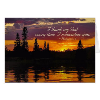 Philippians 1:2-3 Grace and Peace to You, Sunset Card