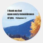 Philippians 1:2 round sticker