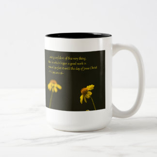 Philippians 1:6 Two-Tone coffee mug
