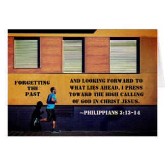 Philippians 3:13-14 Forgetting the Past Card