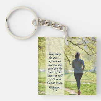 Philippians 3:13-14 Forgetting the Past Key Ring