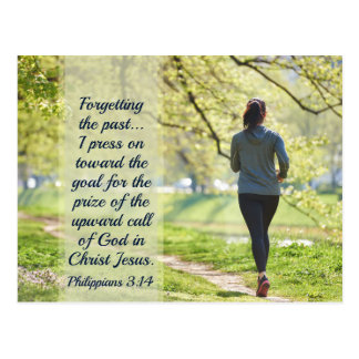 Philippians 3:13-14 Forgetting the Past Postcard