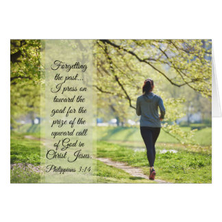 Philippians 3:13-14 I press on toward the goal Card