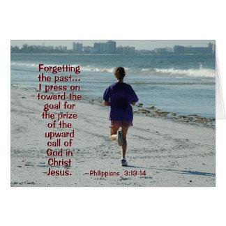 Philippians 3:13-14 Press toward the high calling Card