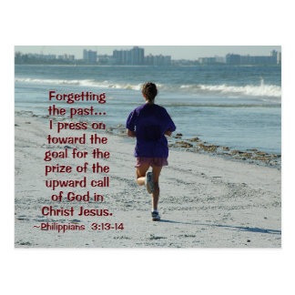 Philippians 3:13 Forgetting the Past, Bible Postcard