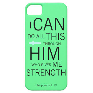 Philippians 4:13 barely there iPhone 5 case