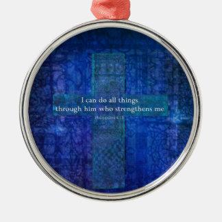 Philippians 4:13 BIBLE VERSE Christmas Ornaments