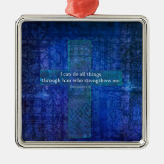 Philippians 4:13 BIBLE VERSE Metal Ornament
