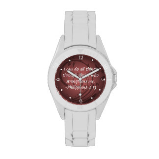 Philippians 4:13 Christian Bible Verse Wristwatch