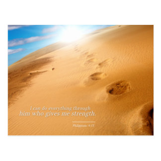 Philippians 4:13: I can do everything through him Postcard