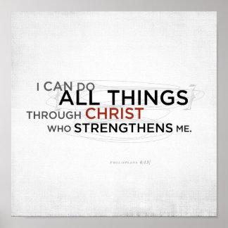Philippians 4:13 II Poster