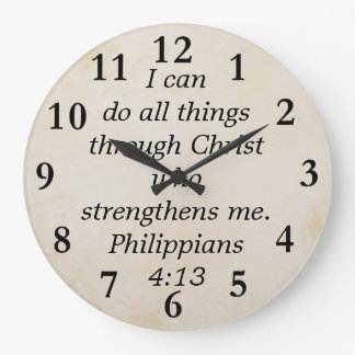 philippians 4:13 large clock