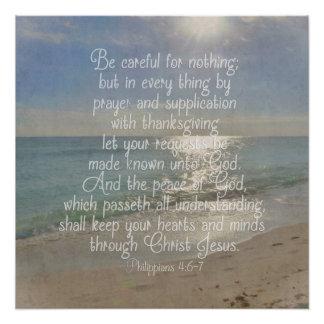 Philippians 4:13 Peace Bible Verse Beach Christian