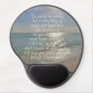 Philippians 4:13 Peace Bible Verse Beach Christian Gel Mouse Pad