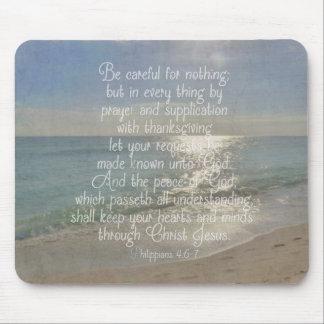 Philippians 4:13 Peace Bible Verse Beach Christian Mouse Pads