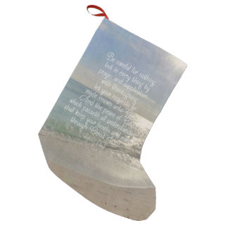 Philippians 4:13 Peace Bible Verse Beach Christian Small Christmas Stocking