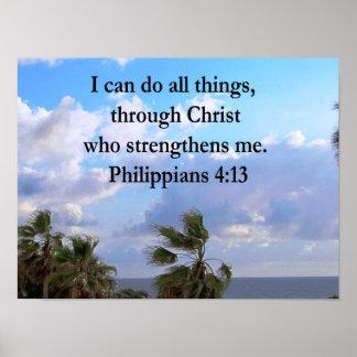 PHILIPPIANS 4:13 PRAYER POSTER