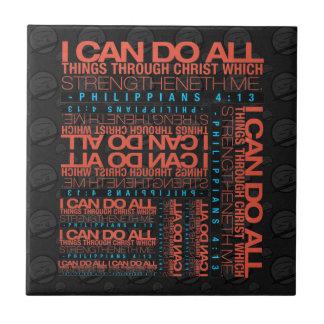 Philippians 4:13 Tiles