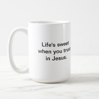 Philippians 4:13 traditional and modern basic white mug