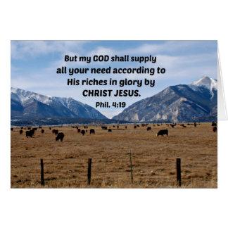 Philippians 4:19 card
