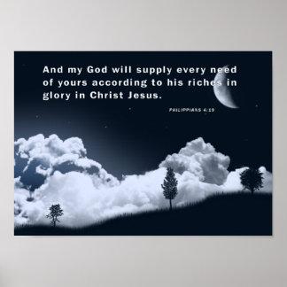 PHILIPPIANS 4:19 POSTER