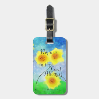 Philippians 4:4 Bible, Rejoice in the Lord Always Luggage Tag