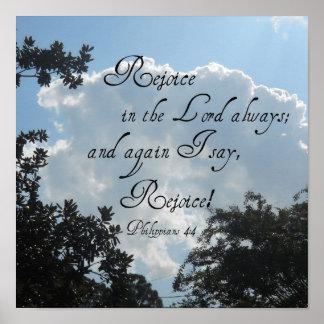 Philippians 4:4 poster