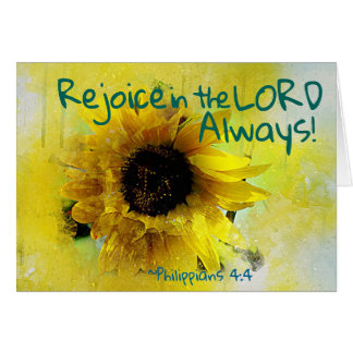 Philippians 4:4 Rejoice in the Lord Always! Bible Card
