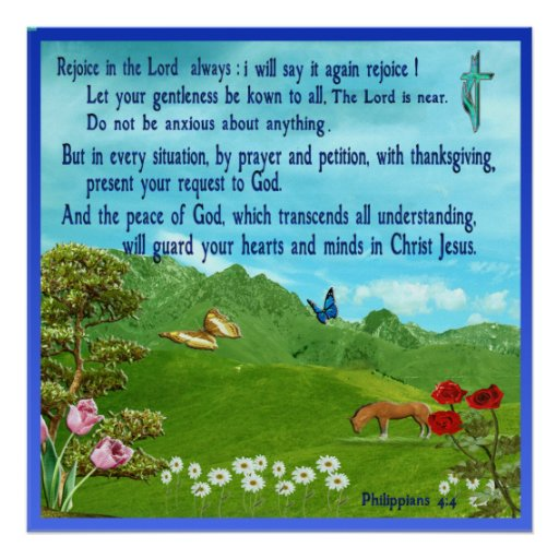 Philippians 4:4 Scripture  poster