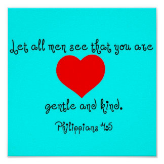 Philippians 4:5 poster
