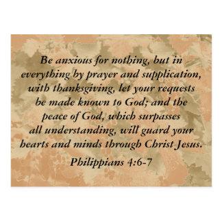 Philippians 4:6-7 postcard