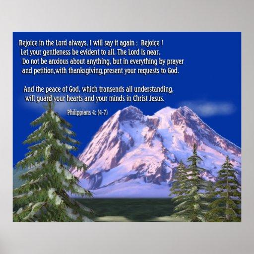 Philippians 4:6 christian poster print